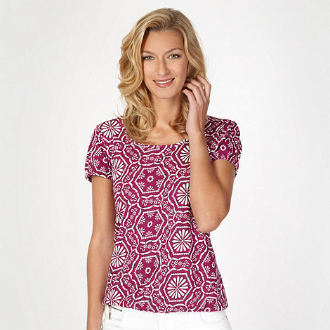 The Collection - Dark pink geometric bubble print top