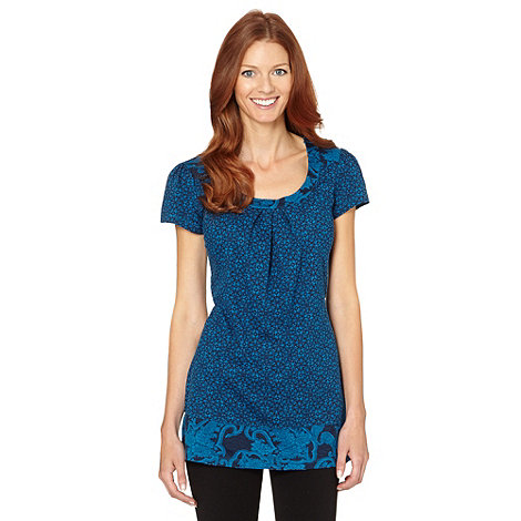 The Collection - Bright blue paisley print tunic