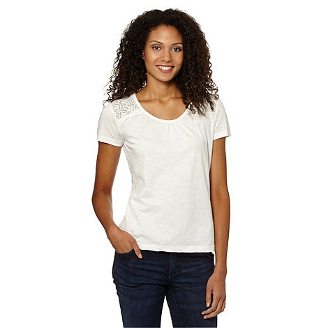 The Collection - Ivory lace back t-shirt