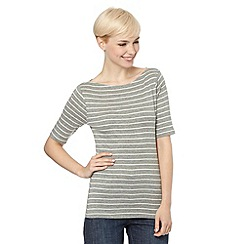 The Collection - Grey striped half sleeve top
