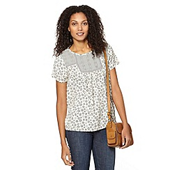 The Collection - Grey chiffon floral printed top