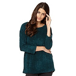The Collection - Turquoise boucle textured tunic