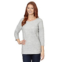 The Collection - Pale grey boucle textured tunic