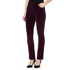 The Collection - Dark purple cord slim leg trousers