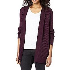 The Collection - Dark purple textured knit cardigan