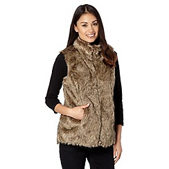 The Collection - Taupe faux fur gilet