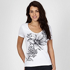 The Collection - White studded floral print t-shirt