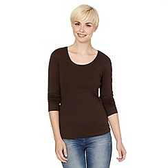 The Collection - Brown plain crew neck top