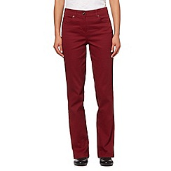 The Collection - Dark red slim leg stretch jeans