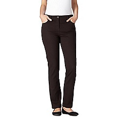 The Collection - Chocolate slim leg stretch jeans
