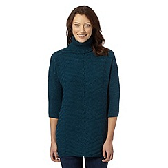 The Collection - Turquoise textured knit tunic