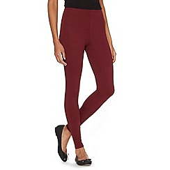 The Collection - Dark red jersey leggings