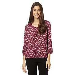 The Collection - Dark pink aztec printed bubble top
