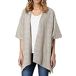 The Collection - Light brown aztec blanket cardigan
