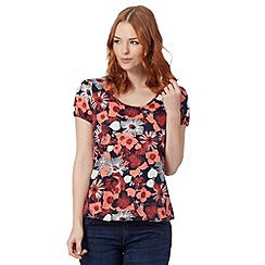The Collection - Red poppy butterfly top