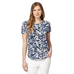 The Collection - Navy eastern bird print top