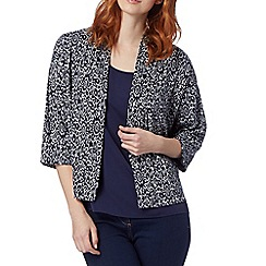 The Collection - Navy patterned kimono cardigan