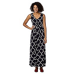 The Collection - Navy oriental print maxi dress