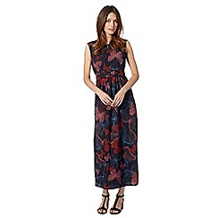 The Collection - Navy butterfly print woven maxi dress