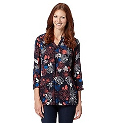 The Collection - Navy Tokyo floral top