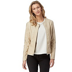 The Collection - Cream quilted PU jacket