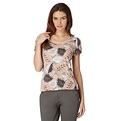 The Collection - Light pink leaf bubble hem top