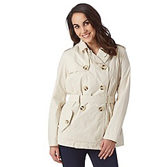 The Collection - Light cream cotton blend belted mac coat