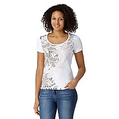 The Collection - Light pink placement tribal floral t-shirt