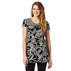 The Collection - Black tanzania floral tunic