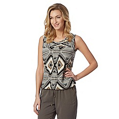 The Collection - Natural tribal print top