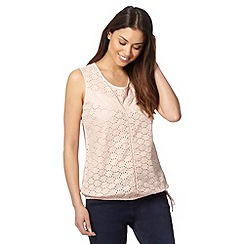 The Collection - Pale pink broderie vest