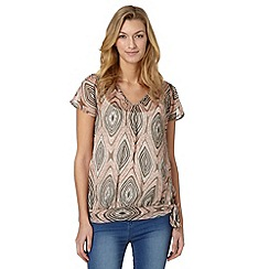 The Collection - Light pink tribal shield print top