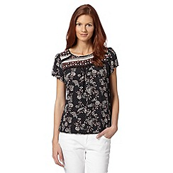 The Collection - Black floral lace top