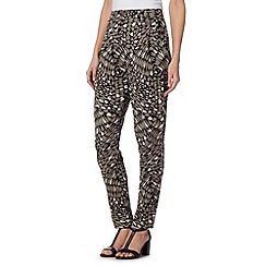 The Collection - Black printed jersey trousers