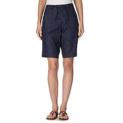 The Collection - Navy chambray shorts