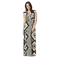 The Collection - Natural aztec print maxi dress