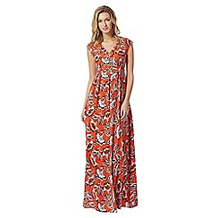 The Collection - Orange Nadia floral maxi dress