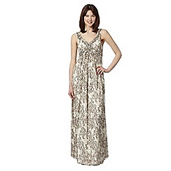 The Collection - Natural leopard print maxi dress
