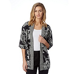 The Collection - Black Tanzana floral print kimono