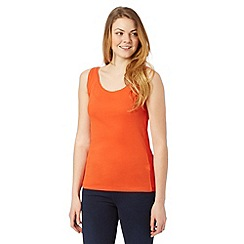 The Collection - Orange scoop neck vest