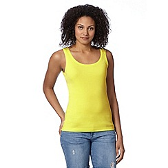The Collection - Lime plain scoop neck vest