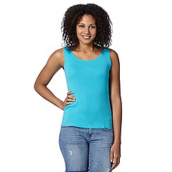 The Collection - Turquoise plain scoop neck vest