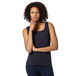 The Collection - Navy plain scoop neck vest