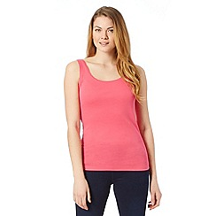 The Collection - Bright pink scoop neck vest