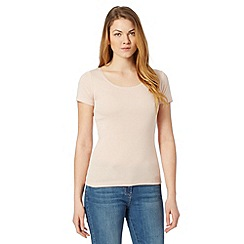 The Collection - Light pink plain scoop neck t-shirt