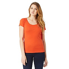 The Collection - Orange plain scoop neck t-shirt