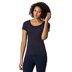 The Collection - Navy scoop neck t-shirt
