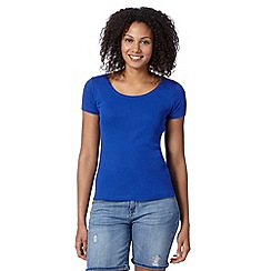 The Collection - Bright blue scoop neck plain t-shirt