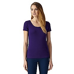 The Collection - Purple plain scoop neck t-shirt