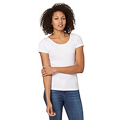 The Collection - White plain scoop neck t-shirt
